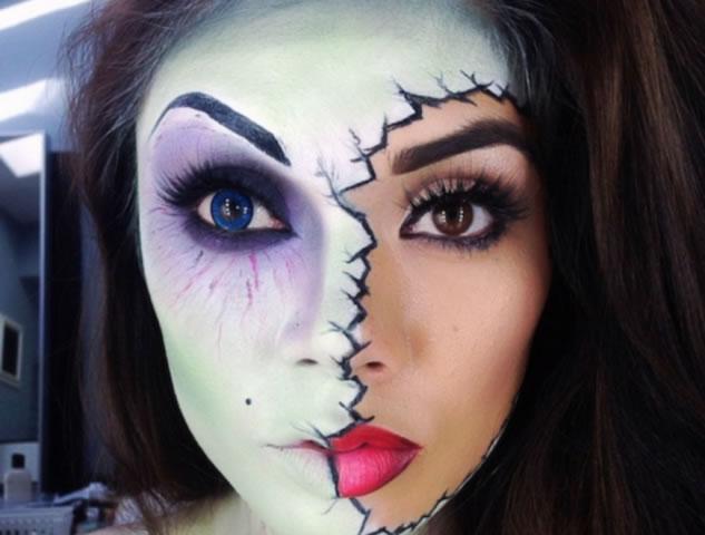Maquiagem de Halloween para noite