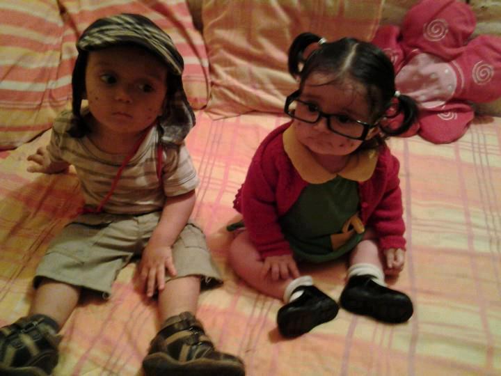 Crianças com fantasias