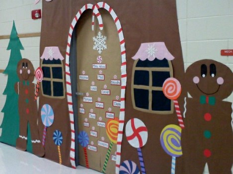 Tag Porta Decorada Natal Para Sala De Aula