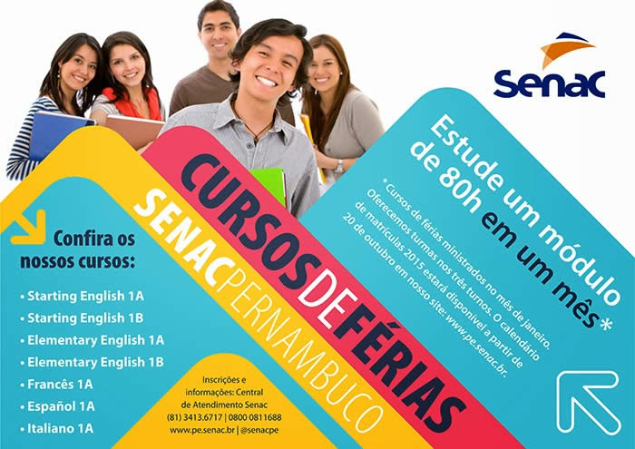 Curso de Idiomas Férias 2015 SENAC