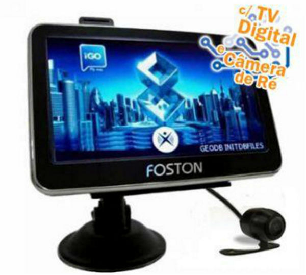 gps foston tv digital e camera de re
