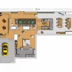 158105 Projeto de casa em formato de L 1 150x150 Planta de Casa em L