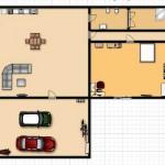 158105 Projeto de casa em formato de L 11 150x150 Planta de Casa em L