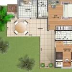 158105 Projeto de casa em formato de L 12 150x150 Planta de Casa em L