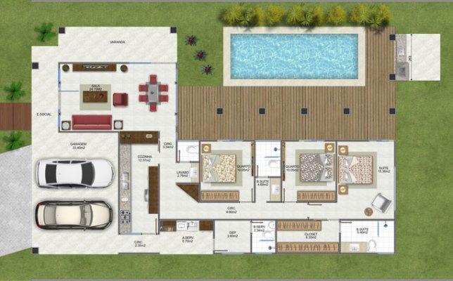 Conte com o trabalho de um arquiteto para construir uma casa em L ...