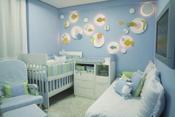 decoracao de quarto de bebe masculino fotos4 150×150 Decoração de