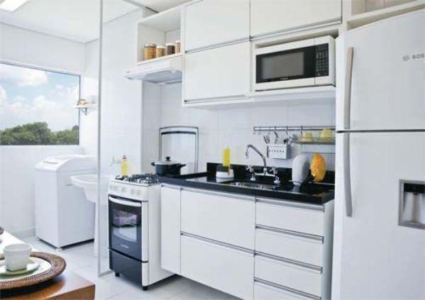 Fotos de cozinha planejada pequena mais de 50 fotos for Cocina y lavanderia juntas