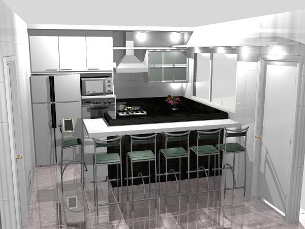 cozinha planejada é uma ótima solução para aproveitar espaço