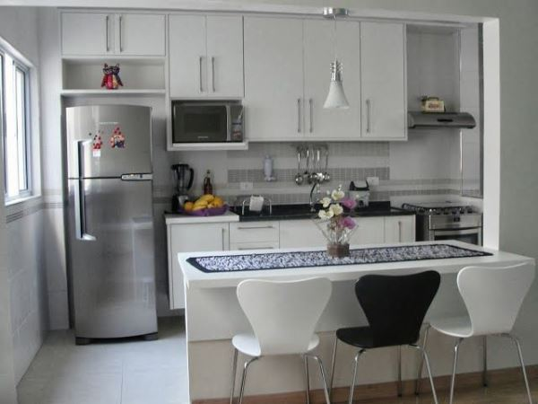 Fotos de cozinhas planejadas pequenas mais de 150 modelos lindos # Cozinha Com Ilha Estreita
