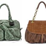 Bolsas feitas com material sintético imitando couro de animais. (Foto: Divulgação)