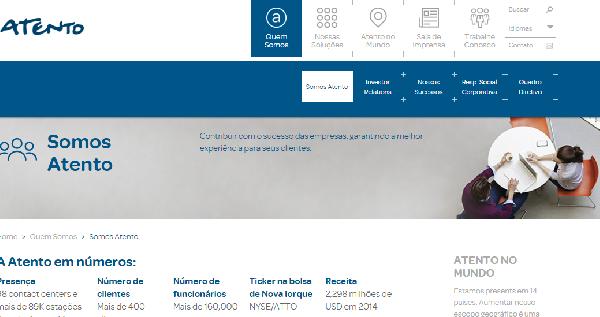 Atento oferece inúmeras vagas de emprego (Foto Divulgação: Atento Brasil)