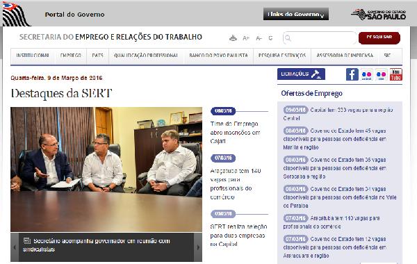 Governo de SP Está Oferecendo Vagas de Emprego