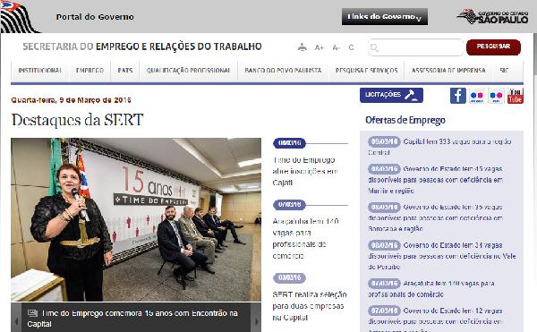 Governo de São paulo oferece oportunidades de emprego (Foto Divulgação: Emprega SP)