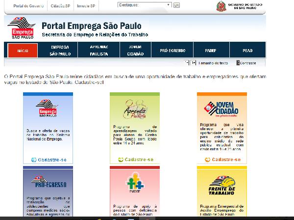 São Paulo oferece inúmeras oportunidades de emprego para a população (Foto Divulgação: Emprega SP)