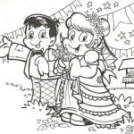 Figuras Festa Junina para Colorir 13