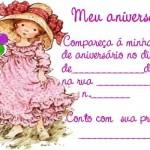 Convite de aniversário de menina. (Foto: divulgação)