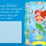 Convite de aniversário Ariel. (Foto: divulgação)