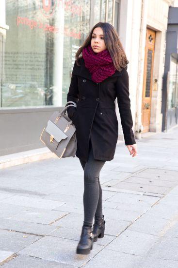 Cachecol de tricô é tendência para o inverno (Foto: Divulgação MdeMulher)