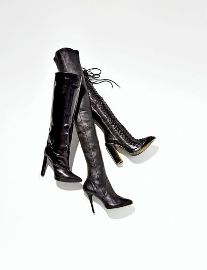 As botas de cano longo acima do joelho são as preferidas das mulheres (Foto: Divulgação MdeMulher)