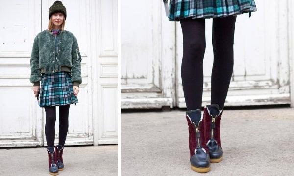 Meia-calça um acessório indispensável no look de inverno (Foto: Divulgação MdeMulher)