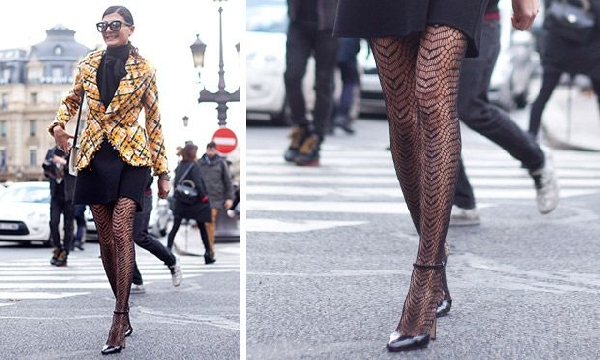 Meia-calça com textura está em alta no inverno 2016 (Foto: Divulgação MdeMulher)