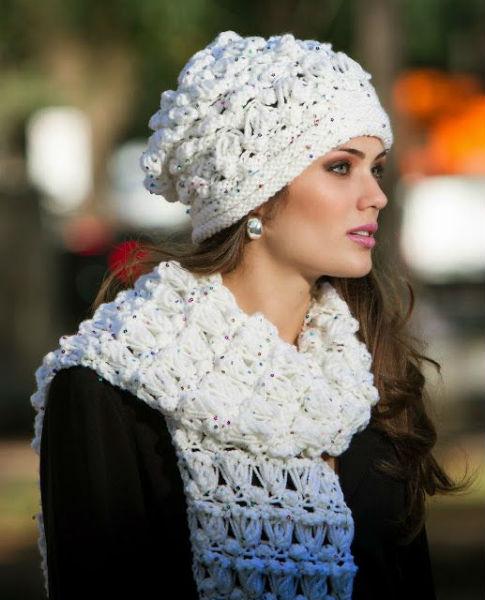 O crochê pode ser usado também em conjunto com touca de crochê (Foto: Reprodução)