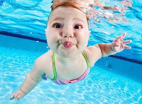 Os bebes não tem medo da água(Foto: Divulgação)