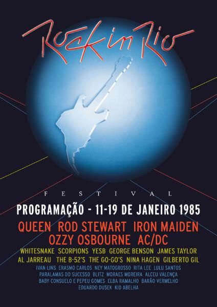 Primeiro fly do evento em 1985 - Rock in Rio Brasil (Foto: Reprodução)