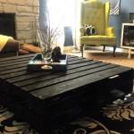 Mesa de centro feita com paletes. (Foto: Divulgação)