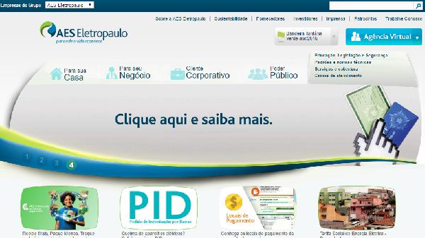 Os consumidores podem acessar a sua conta pelo site da empresa (Foto: Divulgação Eletropaulo)