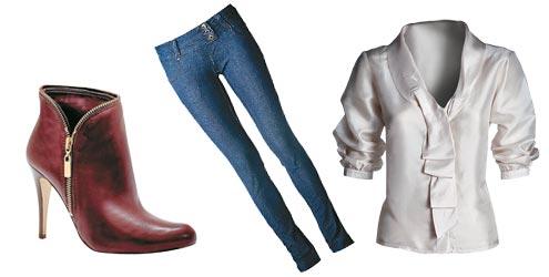 Jeans e cores neutras são tendência (Foto: Divulgação MdeMulher)