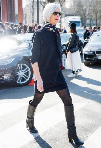 Meia calça com botas é a combinação perfeita para o inverno (Foto: Divulgação MdeMulher)