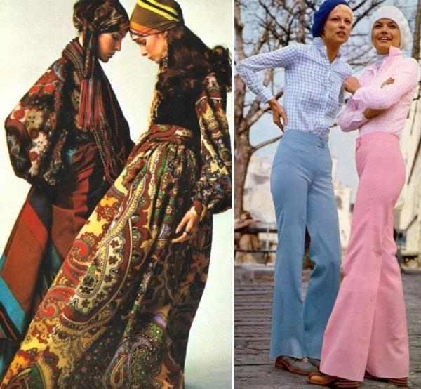 Roupas femininas dos anos 70. (Foto: Divulgação)