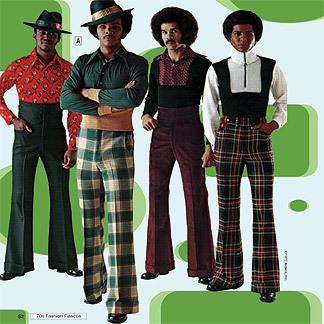 Homens com roupas no estilo anos 70 (Foto: Divulgação)