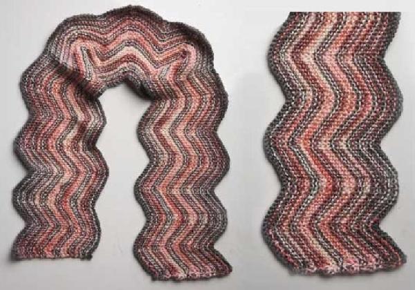 Existem vários modelos de cachecol de tricô (Foto: Divulgação MdeMulher)