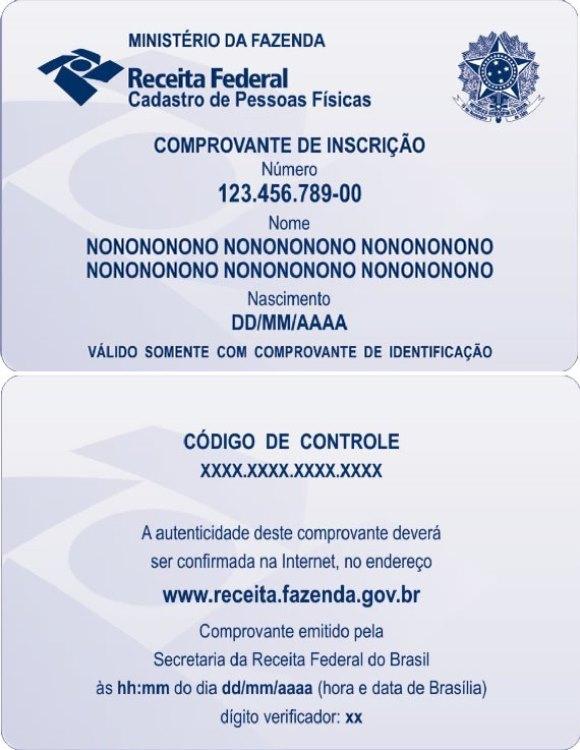 CPF pronto para imprimir. (Foto: Reprodução/ConsultaCPF.Blog)