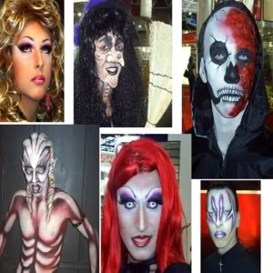 Halloween e uma maquiagem do mal (Foto: Divulgação0