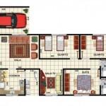 Planta De Casas Com 3 Quartos (3)