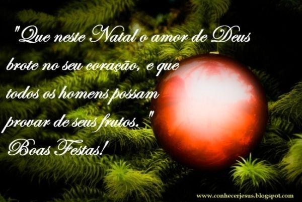 A mensagem de Natal traz alento aos corações (Foto: Divulgação)