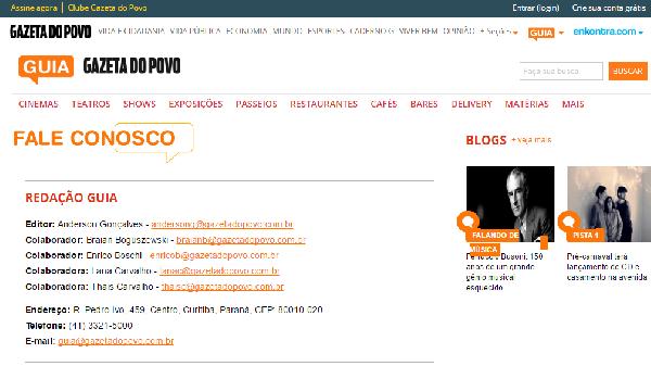 Gazeta do Povo o melhor jornal de Paraná (Foto: Divulgação Gazeta)