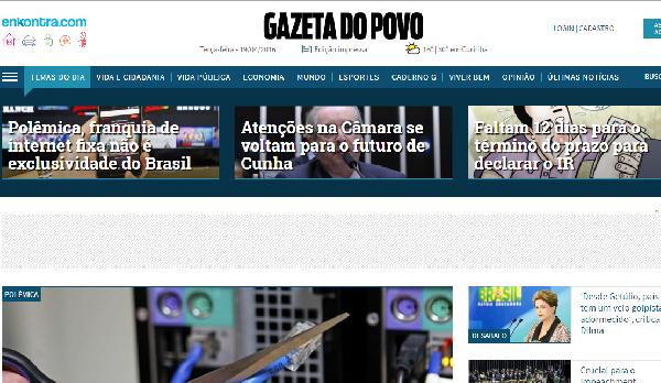 No Gazeta as informações são atualizadas (Foto: Divulgação Gazeta)