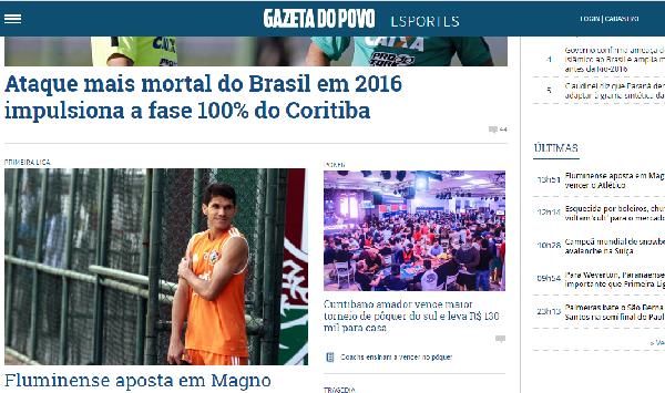 Fique por dentro dos esportes com o Gazeta do Povo (Foto: Divulgação Gazeta)