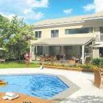 Casas com piscinas podem ser um grande entretenimento para família (Foto: Divulgação)