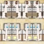 conjunto de casa geminadas