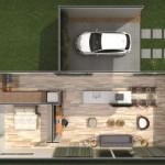 A casa ecológica adota sistemas construtivos sustentáveis. (Foto: Divulgação)