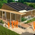 A casa ecológica é planejada para não prejudicar o meio ambiente. (Foto: Divulgação)