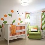 quarto-bebe-verde-laranja-imagens