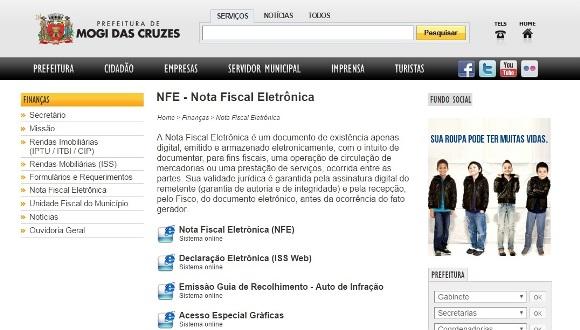 Nota Fiscal Digital Mogi das Cruzes
