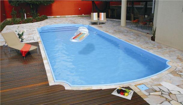 O custo-benefício da piscina de fibra é favorável. (Foto: Divulgação)