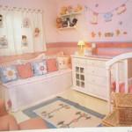 Quanto mais detalhes mais lindo ficará o quarto de bebê feminino. (Foto: Divulgação)